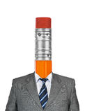 Pencil instead head Royalty Free Stock Image