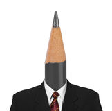 Pencil instead head Royalty Free Stock Photography