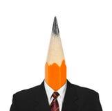 Pencil instead head Stock Photos
