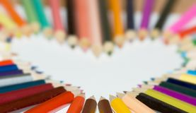 Pencil heart Stock Image