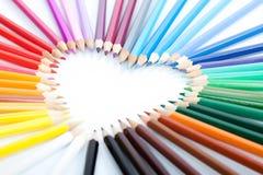 Pencil heart Stock Photo