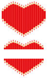 Pencil heart. Vector image of red pencils in form of heart Stock Photography