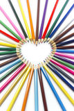Pencil heart macro Royalty Free Stock Photo