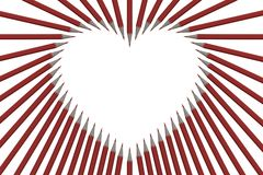 Pencil Heart Picture Frame Royalty Free Stock Photos