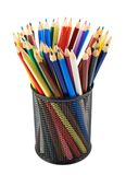 Pencil holder full of pencils Stock Photography