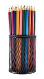 Pencil holder full of pencils Royalty Free Stock Photography