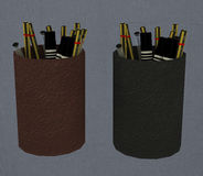 Pencil holder Royalty Free Stock Images