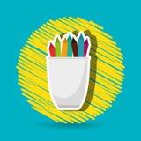 Pencil holders design Stock Image