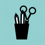 Pencil holders design Royalty Free Stock Photo