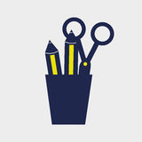 Pencil holders design Stock Images