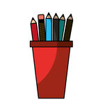 Pencil holders isolated icon Stock Photography
