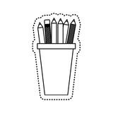 Pencil holders isolated icon Royalty Free Stock Photo