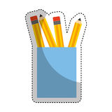 Pencil holders isolated icon Royalty Free Stock Images