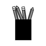 Pencil holders isolated icon Royalty Free Stock Image