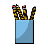 Pencil holders isolated icon Stock Photos