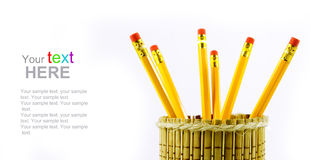 Pencil holders Stock Photography