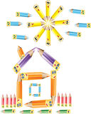Pencil house Stock Image