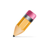 Pencil icon isolated on white Stock Images
