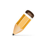 Pencil icon isolated on white Stock Photos