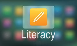 Pencil Icon Online Education Learning Graphic Concept Royalty Free Stock Image