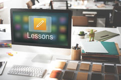 Pencil Icon Online Education Learning Graphic Concept Royalty Free Stock Photos