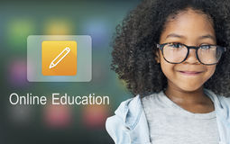 Pencil Icon Online Education Learning Graphic Concept Stock Photography