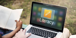Pencil Icon Online Education Learning Graphic Concept stock image