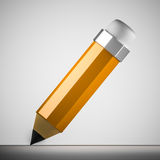 Pencil Icon. Orange drawing pencil icon/logo Royalty Free Stock Photography