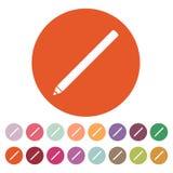 The pencil icon. Pen symbol. Flat Vector Stock Photo