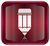 Pencil icon red Stock Image