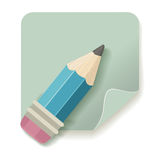 Pencil icon Royalty Free Stock Image
