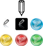 Pencil icon symbol Royalty Free Stock Photos