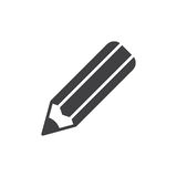 Pencil icon vector, filled flat sign, solid pictogram isolated on white. Royalty Free Stock Photos