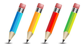 Pencil icons. Art color graphic Royalty Free Stock Photos