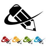 Swoosh Pencil Icons Stock Image
