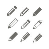 Pencil icons vector set Royalty Free Stock Photo