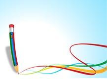 Pencil idea. Creative drawing idea colour work Royalty Free Stock Image