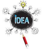 Pencil idea isolate write blue idea business illustration vector. Pencil idea isolate write blue idea business illustration vector concept Stock Photography