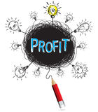 Pencil idea isolate write blue profit business illustration vect Stock Photography