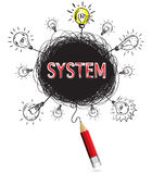 Pencil idea isolate write red system business illustration. Royalty Free Stock Images