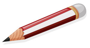 A pencil. Illustration of a pencil on a white background royalty free illustration