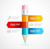 Pencil Infographic Education Concept. Vector Stock Photos