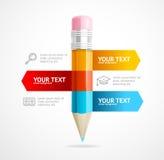 Pencil Infographic Education Concept. Vector Stock Photos