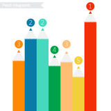 Pencil infographics. Pencil infographics white background. vector. eps10 Royalty Free Stock Image