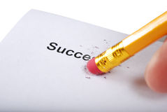 Pencil with inscription Royalty Free Stock Images