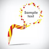 Pencil with inscription Sample text Stock Image