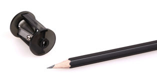 Pencil isolated. On the white background Royalty Free Stock Photos