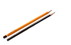 Pencil isolated. On white background Royalty Free Stock Images