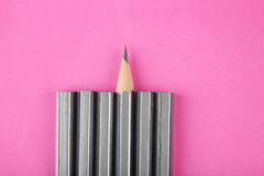Pencil isolated on pink Stock Photography