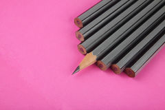 Pencil isolated on pink Royalty Free Stock Photos